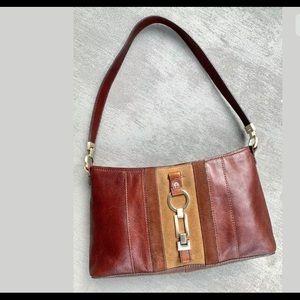 VTG Etienne Aigner Cognac Leather & Suede Purse